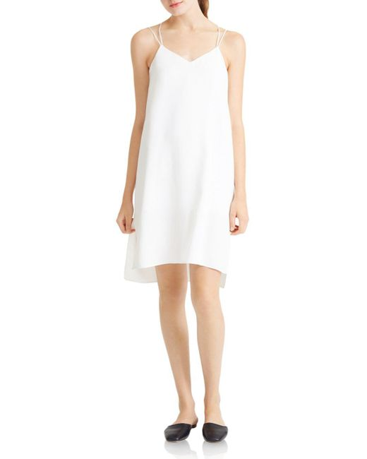 Halston Heritage - White Strappy Slip Dress - Lyst