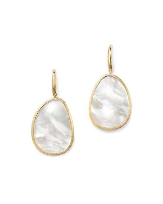 Marco Bicego - Metallic 18k Yellow Gold Lunaria Mother-of-pearl Drop Earrings - Lyst
