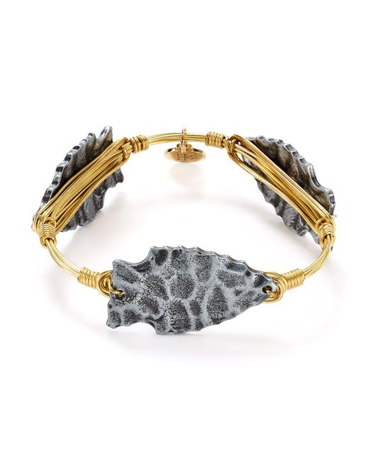 Bourbon and Boweties | Metallic Arrowhead Bangle | Lyst