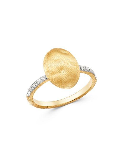 Marco Bicego Metallic 18k Yellow Gold Siviglia Diamond Ring