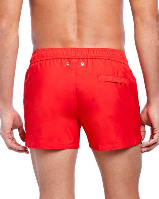 2xist Men's Red 2(x)ist Essential Ibiza Rainbow - Print Swim Shorts