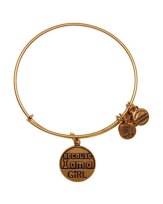 ALEX AND ANI   Metallic Because I Am A Girl Expandable Wire Bangle, Charity By Design Collection   Lyst