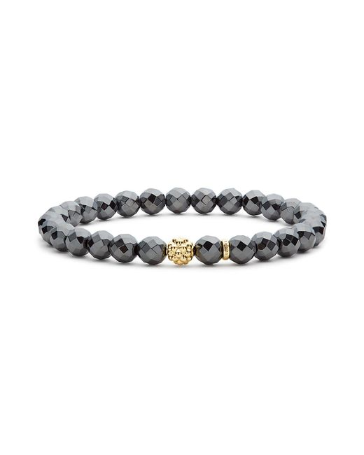Lagos - Metallic Caviar Icon Hematite Bracelet With 18k Gold Caviar Station - Lyst