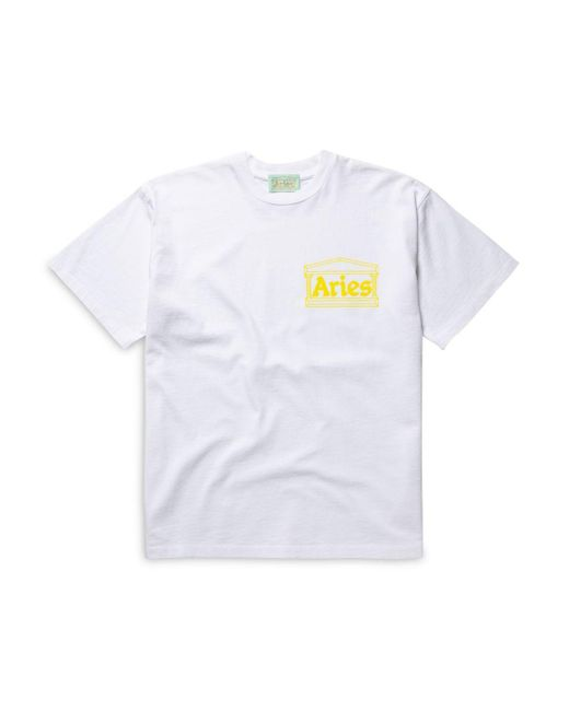 Aries White Temple Tee for men