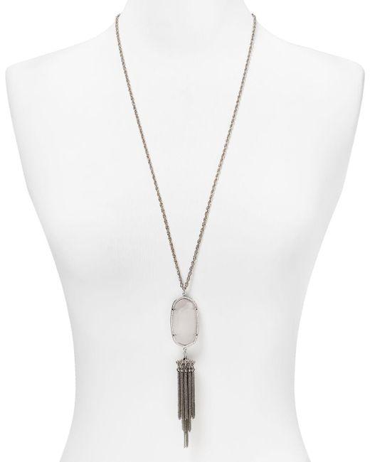 "Kendra Scott | Metallic Rayne Pendant Tassel Necklace, 38"" | Lyst"