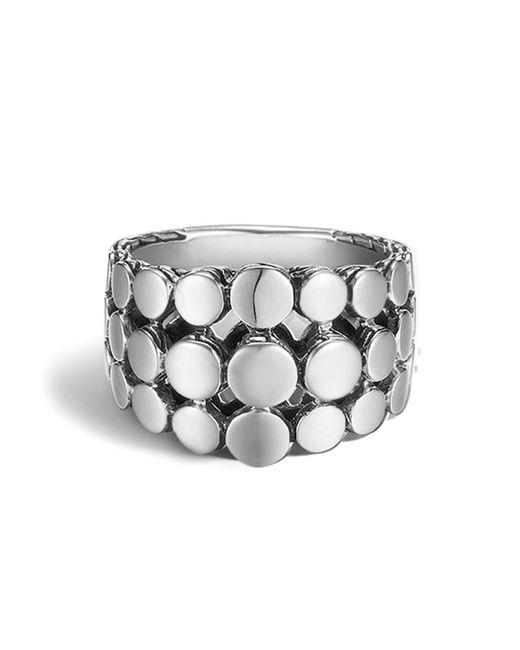 John Hardy | Metallic Dot Silver Three Row Dome Ring | Lyst