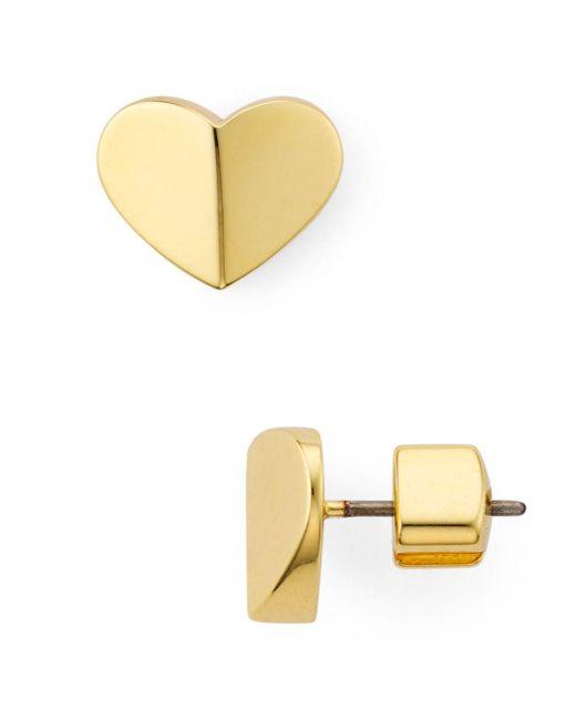 Kate Spade Metallic Small Heart Stud Earrings