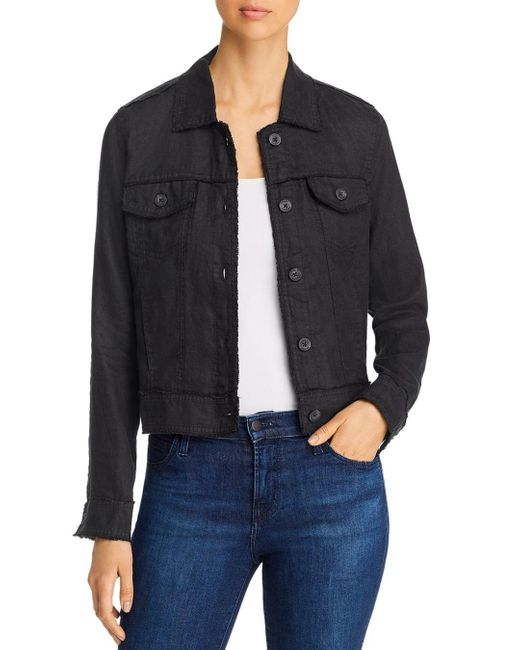 Tommy Bahama Black Two Palms Raw - Edge Linen Jacket