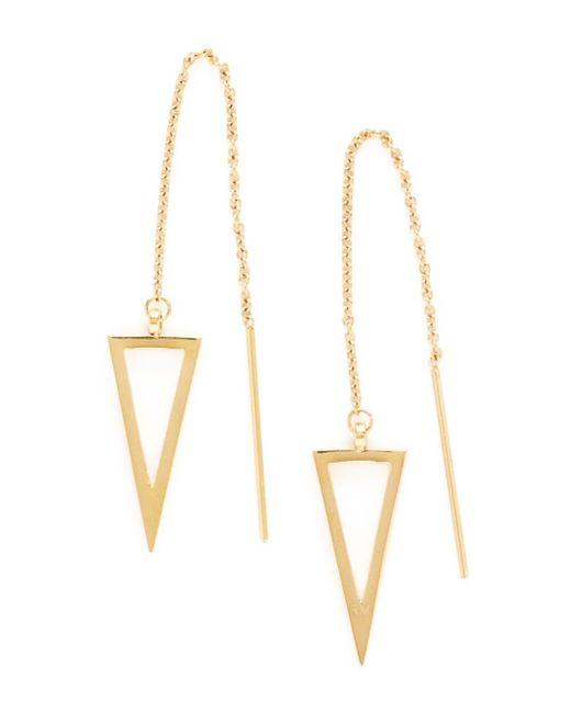 Rebecca Minkoff - Metallic Triangle Threader Earrings - Lyst