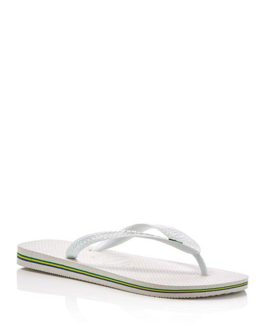 Havaianas - White Men's Brazil Flip-flops for Men - Lyst