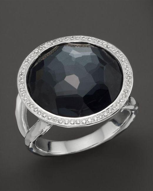 Ippolita | Multicolor Stella Lollipop Ring In Hematite Doublet With Diamonds In Sterling Silver | Lyst