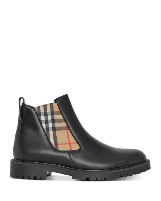 Burberry Black Allostock Chelsea Boots for men