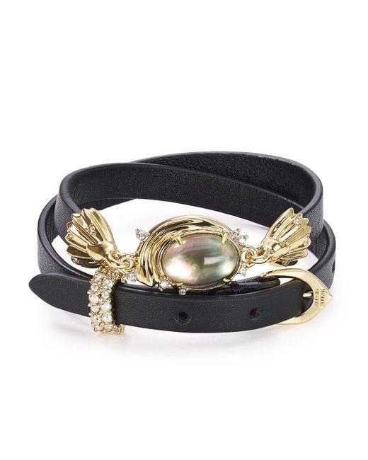 Alexis Bittar   Black Studded Golden Array Wrap Bracelet   Lyst