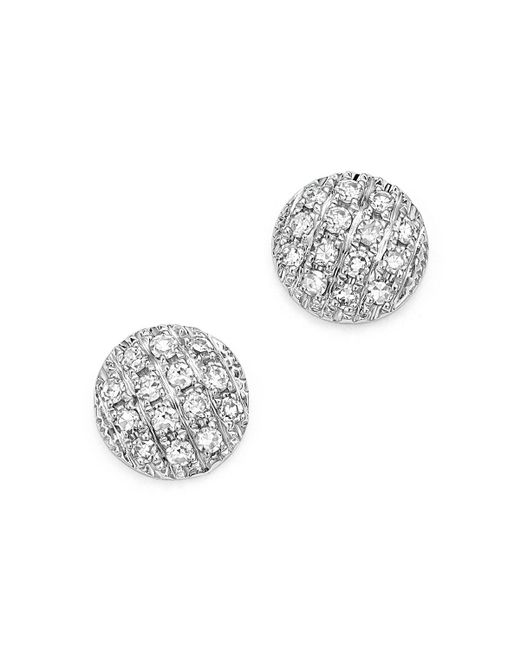 Dana Rebecca | Diamond Lauren Joy Mini Earrings In 14k White Gold | Lyst