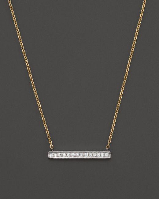 Dana Rebecca | 14k White & Yellow Gold Sylvie Rose Medium Bar Necklace With Diamonds | Lyst