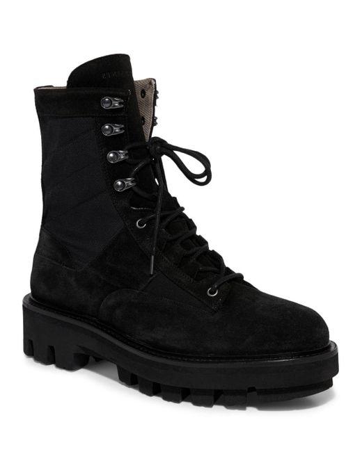 AllSaints Black Holt Lace Up Boots for men