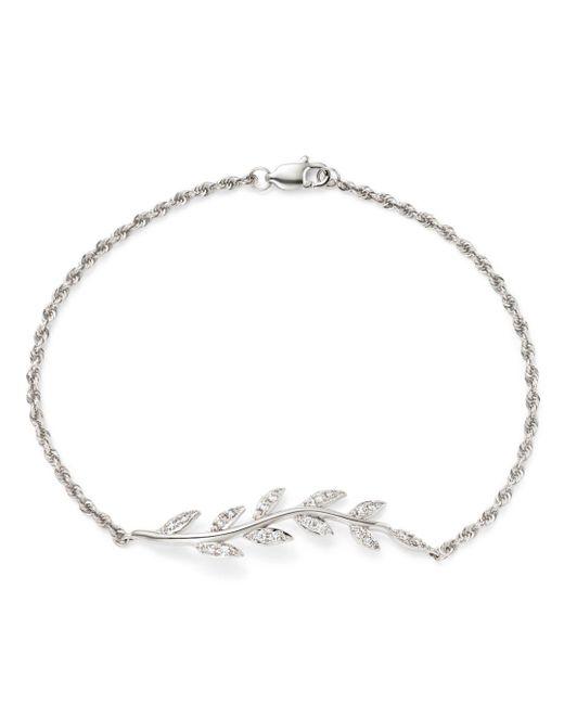 Bloomingdale's - Diamond Leaf Bracelet In 14k White Gold, .20 Ct. T.w. - Lyst