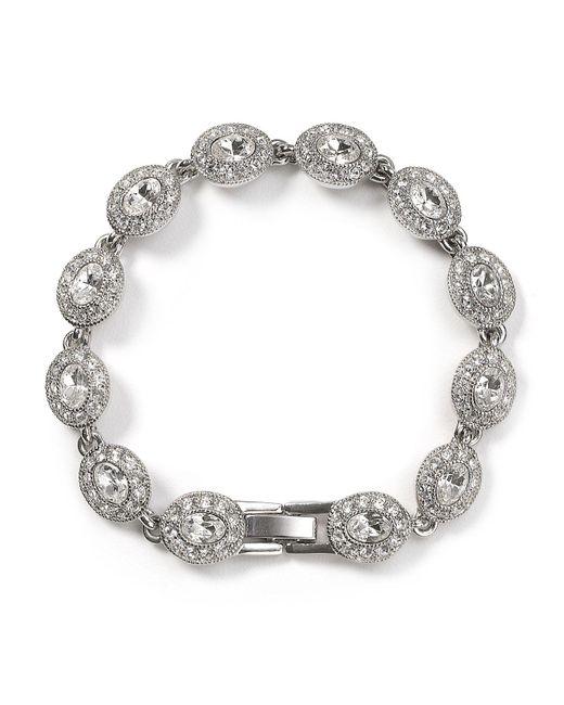 Carolee - Metallic Topaz Oval Stone Flex Bracelet - Lyst