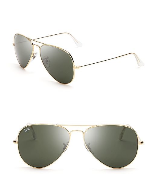 Ray-Ban | Metallic Aviator Sunglasses | Lyst