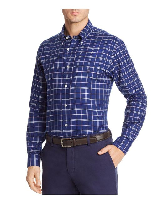 Brooks brothers oxford plaid long sleeve button down shirt for Oxford long sleeve button down shirt
