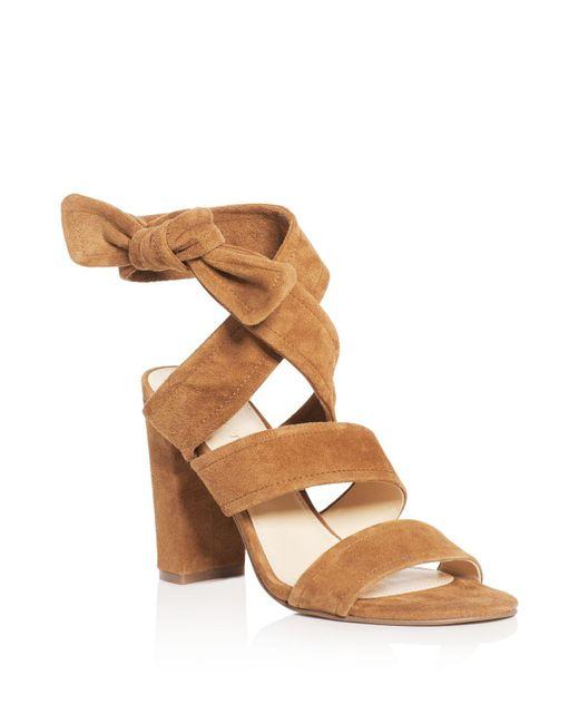 Ivanka Trump | Brown Kiffie Ankle Tie High Heel Sandals | Lyst