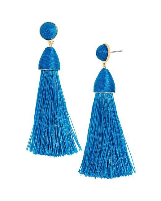 BaubleBar | Blue Rosabella Tassel Earrings | Lyst