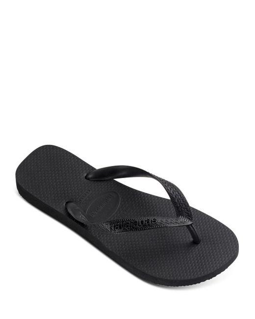 Havaianas Black Men's Top Solid Sandals for men