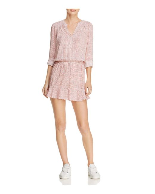 Soft Joie | Pink Acey Flounced Mini Dress | Lyst