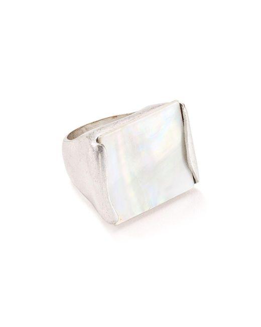 Robert Lee Morris   Metallic Geometric Cocktail Ring   Lyst