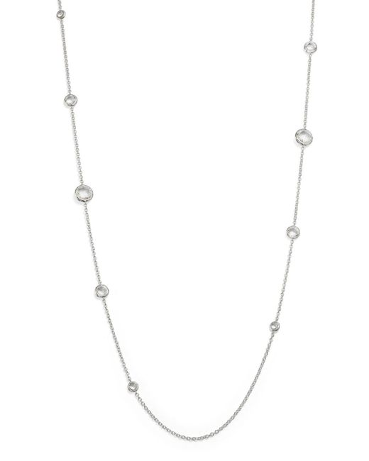 Ippolita Metallic Sterling Silver Rock Candy® Lollipop Necklace In Clear Quartz