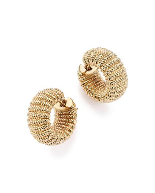 Roberto Coin Metallic 18k Yellow Gold Chic And Shine Hoop Earrings