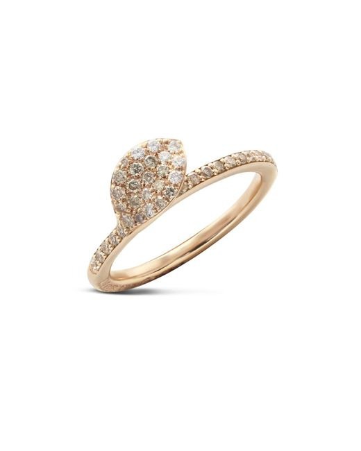 Pasquale Bruni | Metallic 18k Rose Gold Secret Garden Single Petal Pavé Diamond Ring | Lyst