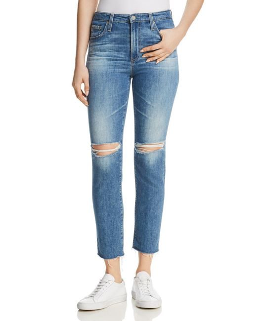 AG Jeans - Blue Isabelle Skinny Jeans In 13 Years Saltwater - Lyst