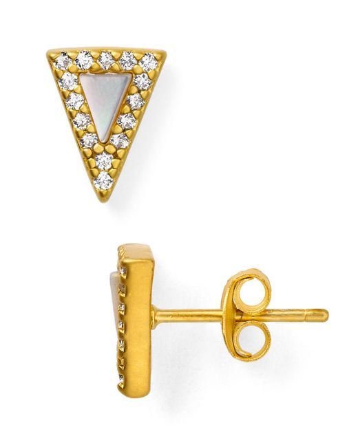 Freida Rothman - Metallic Slice Stud Earrings - Lyst