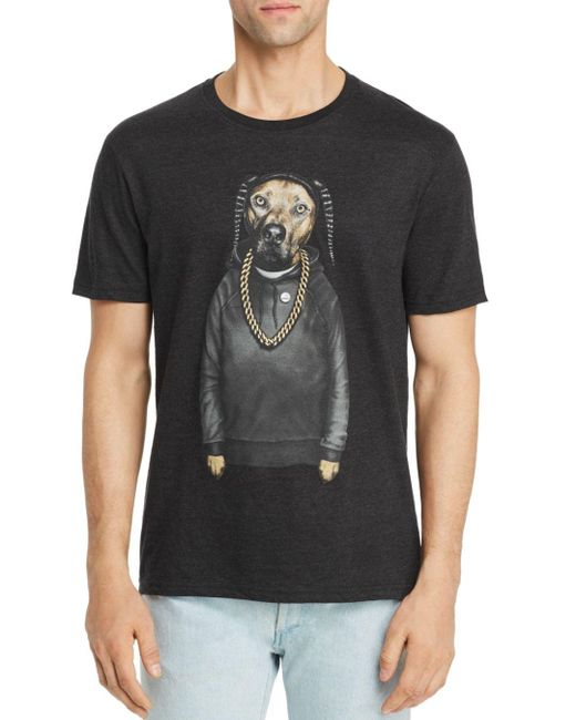 ELEVEN PARIS Black Dog Graphic Tee for men