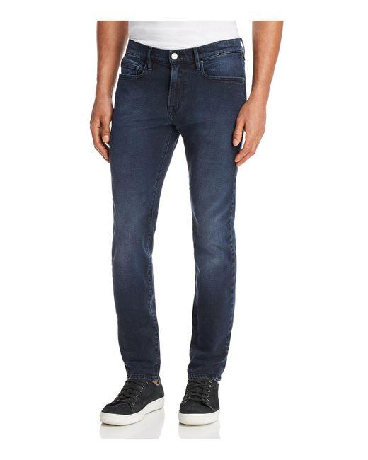 FRAME - Blue L'homme Skinny Fit Jeans In Cobalt for Men - Lyst