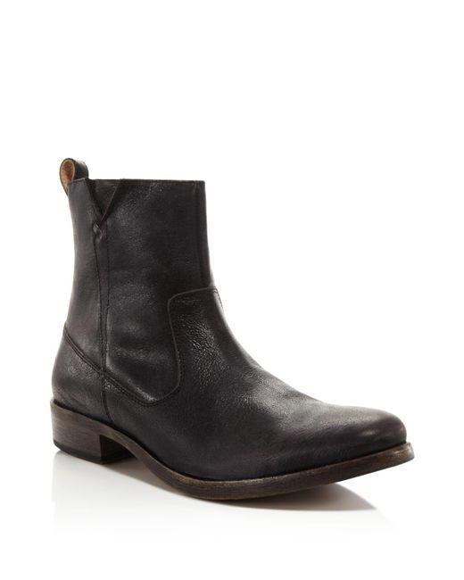 John Varvatos - Black Followill Zip Boots for Men - Lyst