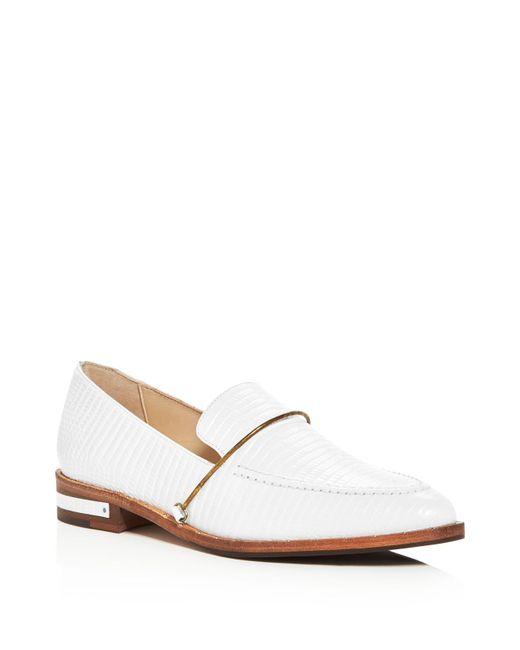 Frēda Salvador | White Light Embossed Loafers | Lyst