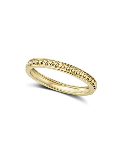 Lagos - Metallic Caviar Gold Collection 18k Gold Beaded Stacking Ring - Lyst