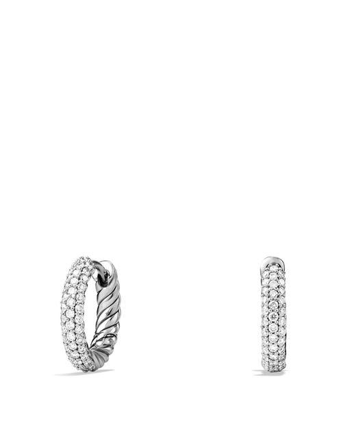 David Yurman - Metallic Petite Pavé Earrings With Diamonds - Lyst