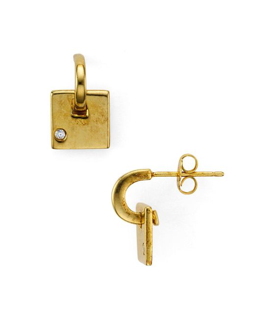 Argento Vivo - Metallic Square Dangle Earrings - Lyst
