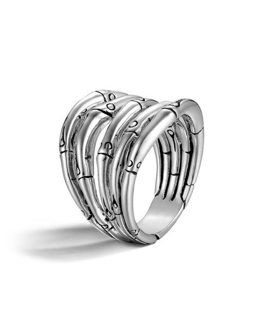 John Hardy - Metallic Bamboo Silver Wide Ring - Lyst