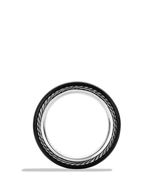 David Yurman Streamline® Wide Band Ring With Black Diamonds And Black Titanium for men