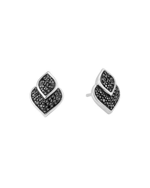 John Hardy | Sterling Silver Legends Naga Black Sapphire And Black Spinel Stud Earrings | Lyst