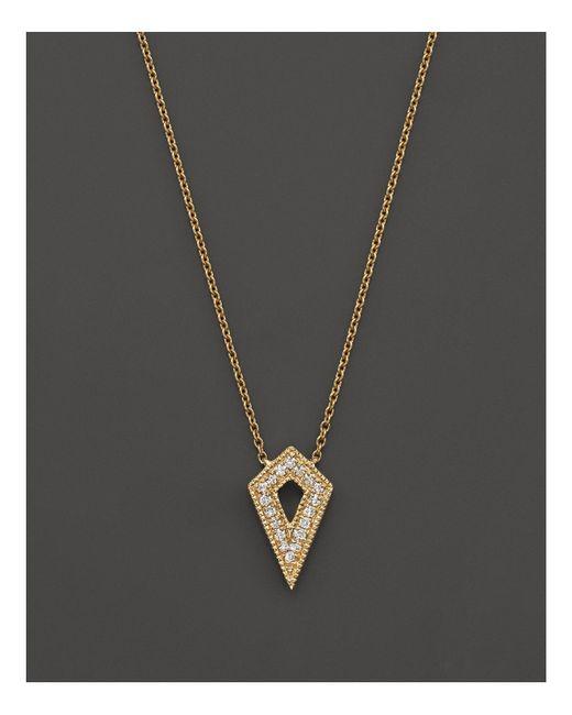 "Dana Rebecca | Metallic 14k Yellow Gold Jemma Morgan Necklace With Diamonds, 16"" | Lyst"