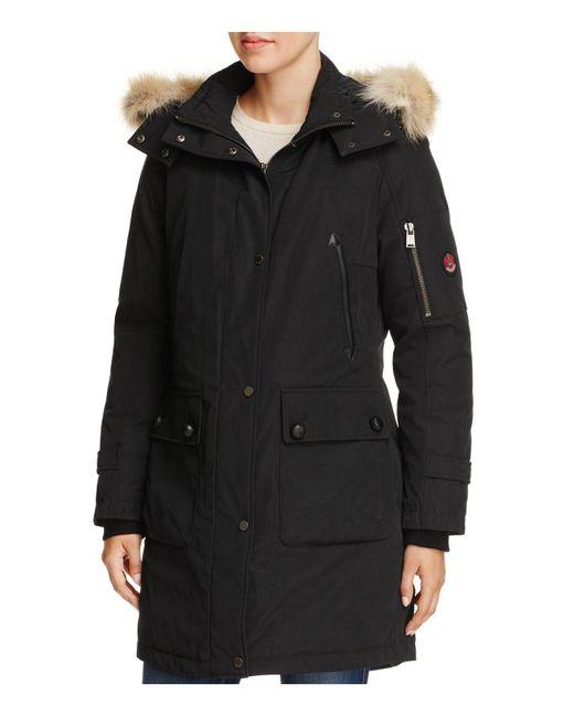 Pendleton   Black Jackson Fur Trim Down Coat   Lyst