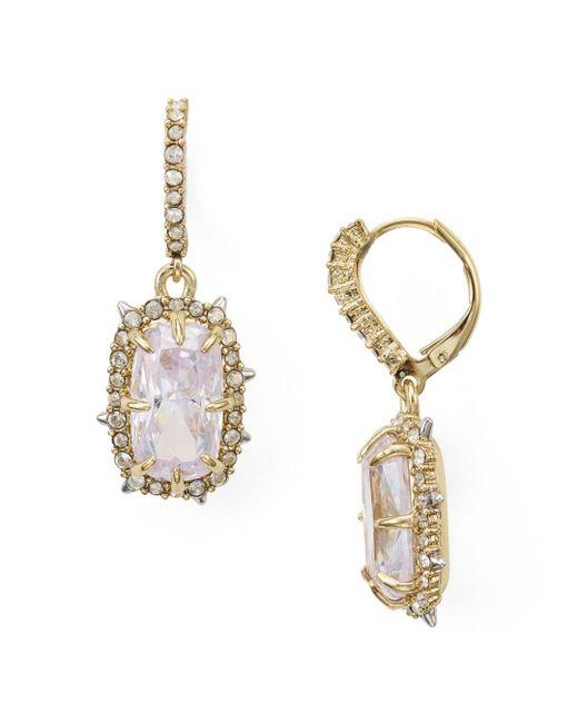 Alexis Bittar Metallic Swarovski Crystal Earrings