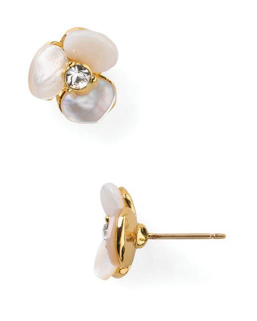 Kate Spade | Natural Pansy Stud Earrings | Lyst