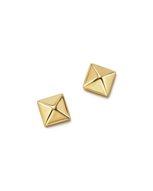 Bloomingdale's - Metallic 14k Yellow Gold Small Pyramid Post Earrings - Lyst