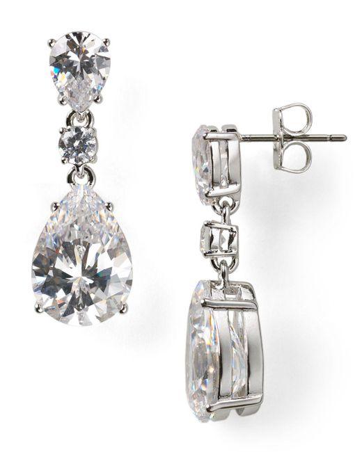 Nadri Metallic Teardrop Earrings